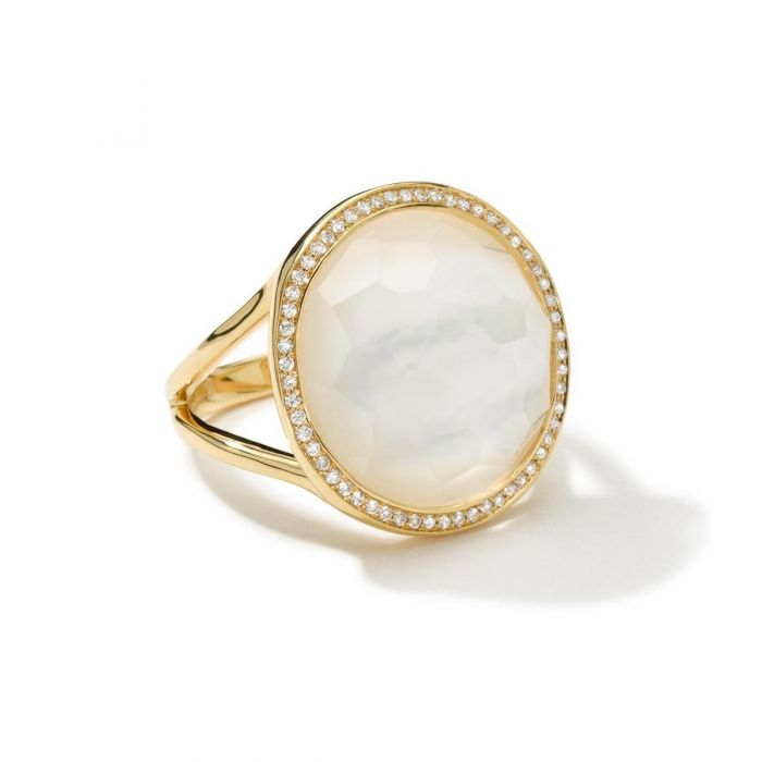 Mother Of Pearl >> Ippolita Gold Lollipop Ring With Diamonds In Mother Of Pearl Doublet