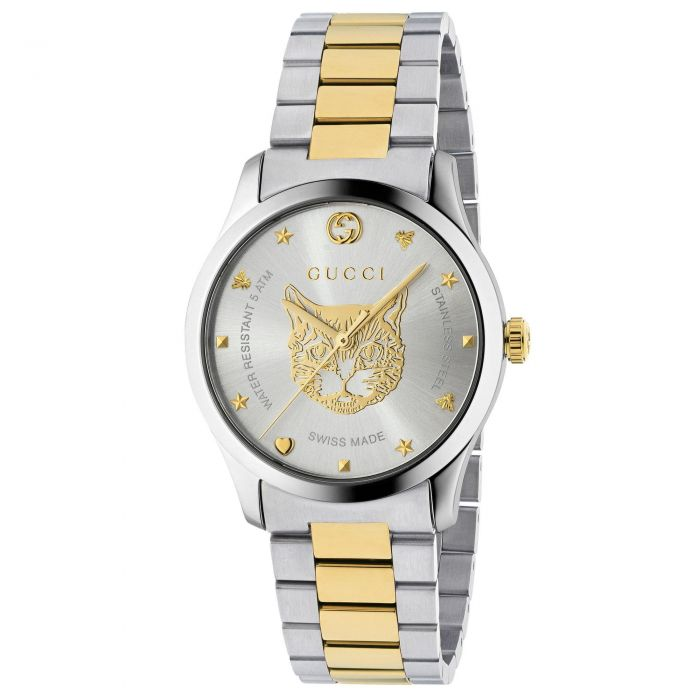 ab46c93c96d Ladies  Gucci G-Timeless Stainless Steel Tiger Watch YA1264074 ...