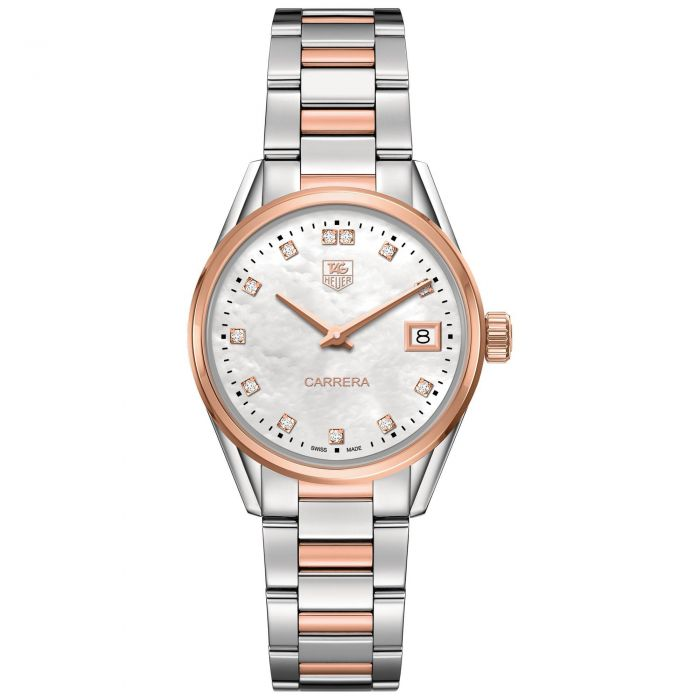 5eecfc0fb0393 Ladies  TAG Heuer CARRERA Quartz Watch WAR1352.BD0779 - Item 19425461