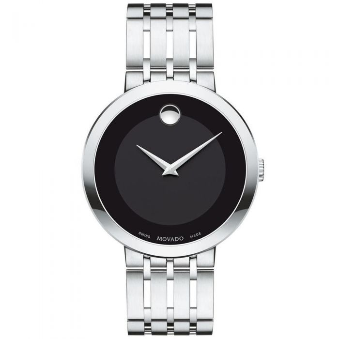 c76c8a83825 Men s Movado Esperanza Black Dial Stainless Steel Watch 0607057 - Item  19640515