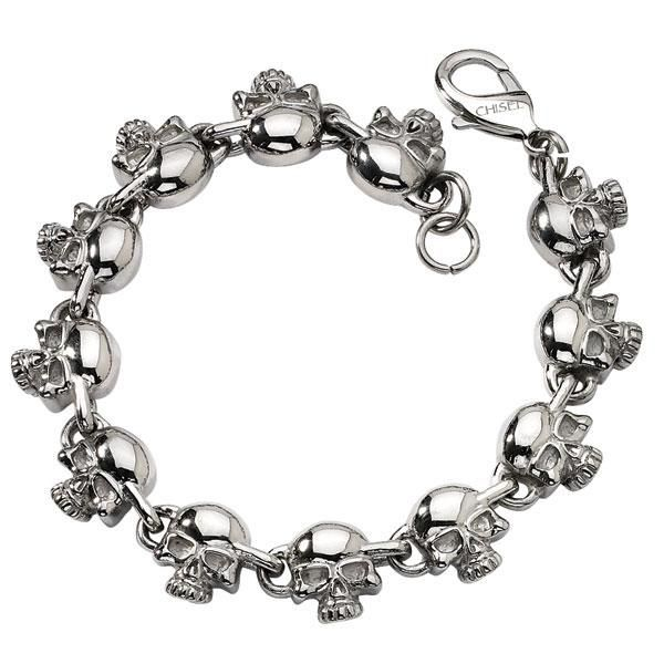 Men S Stainless Steel Skull Bracelet