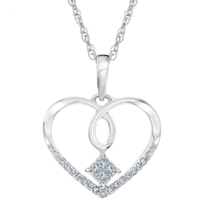 Reeds jewelers exclusive princess in love diamond heart pendant 1 reeds jewelers exclusive princess in love diamond heart pendant 18ctw aloadofball Choice Image