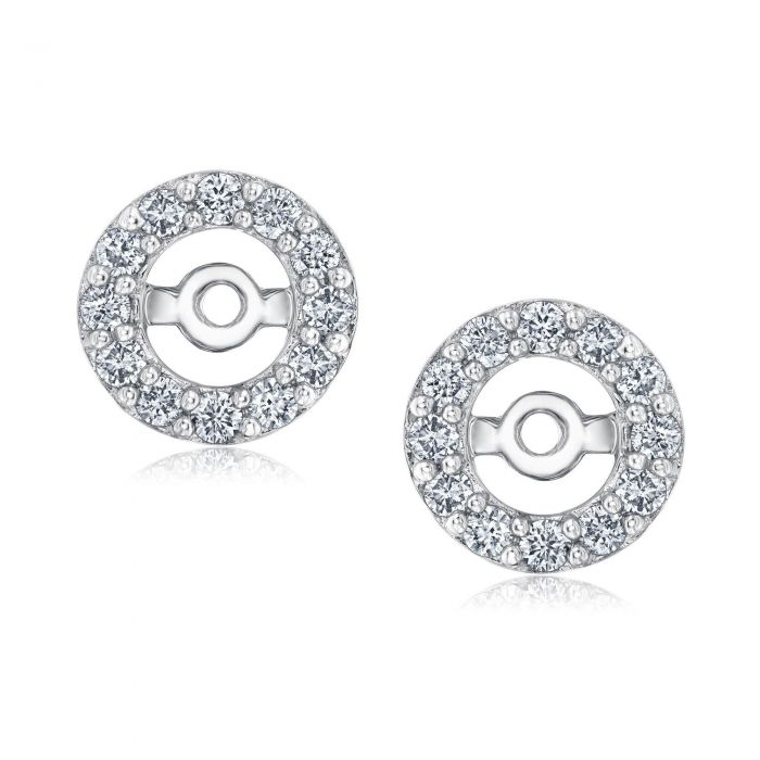 Round Frame Diamond Earring Jackets 1/3ctw - Item 19648146 | REEDS ...