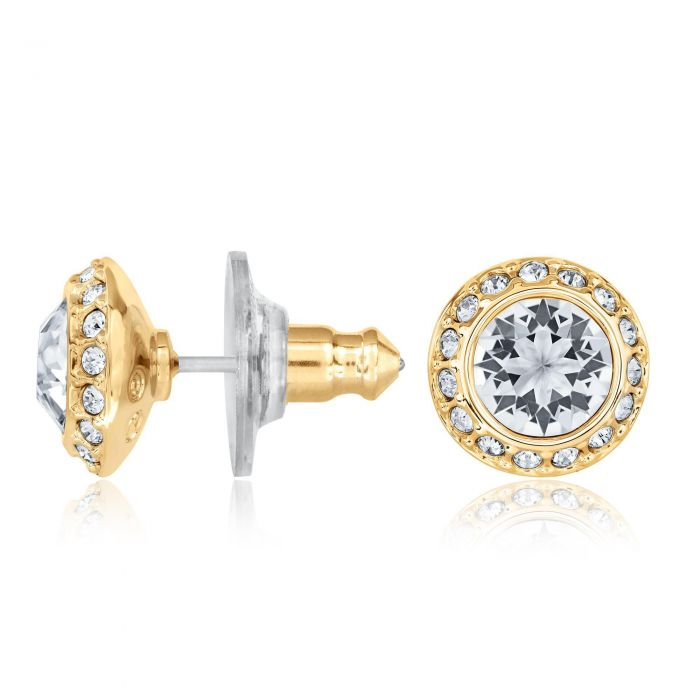 Swarovski Angelic Pierced Earrings Gold Plated