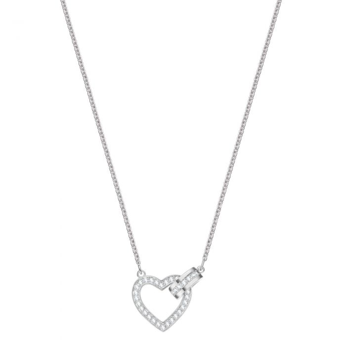 b0eff16a556934 Swarovski Crystal Lovely Rhodium-Plated Necklace - Item 19842970 ...