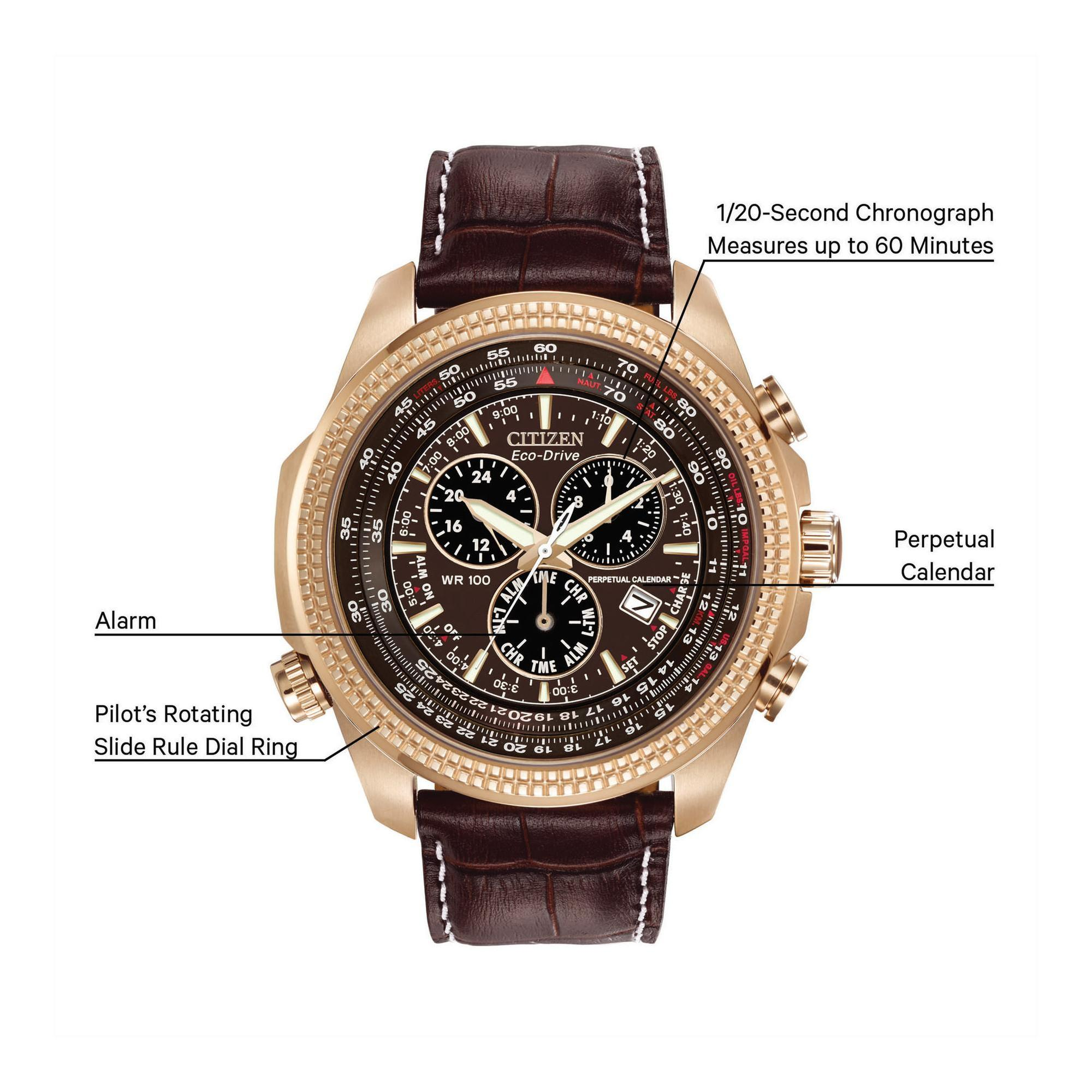 Mens Citizen Perpetual Calendar Chronograph Eco-Drive Watch