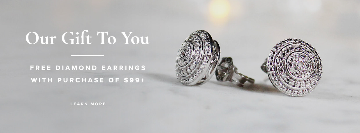Free Earrings With a purchase over $99