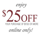 25% off any purchase of $150 or more REEDS Jewelers Coupon