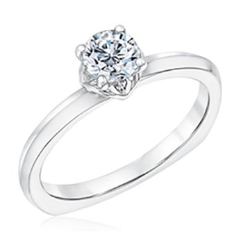 Kleinfeld Fine Jewelry Dover Solitaire Engagement Ring 1/2ctw