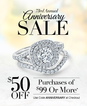 73rd Anniversary Sale. $50 off purchases of $99 or more.* Use code ANNIVERSARY at checkout.