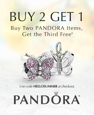 Buy 2, Get 1: Buy two PANDORA items, get the Third free.* Use code HELLOSUMMER at checkout. PANDORA.